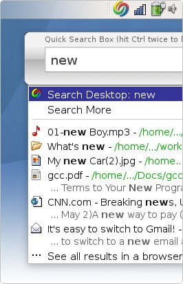 Google Desktop for Linux