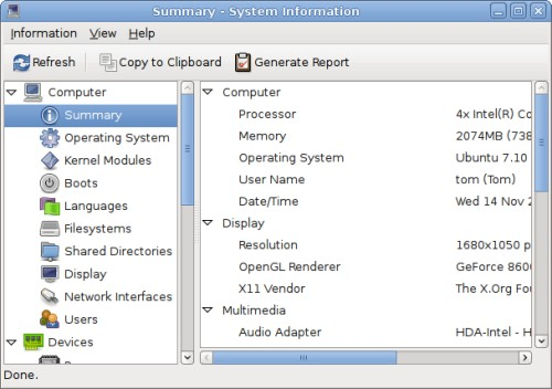 Benchmark Your Linux System with HardInfo | Tombuntu