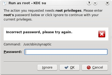 KDE refuses your password