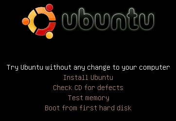 Ubuntu boot menu
