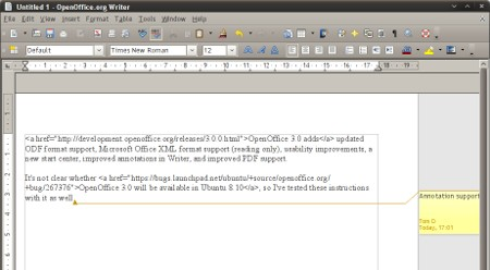 OpenOffice 3.0 on Ubuntu 8.04