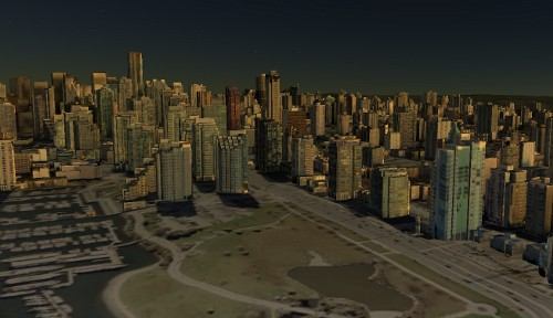 Vancouver in Google Earth